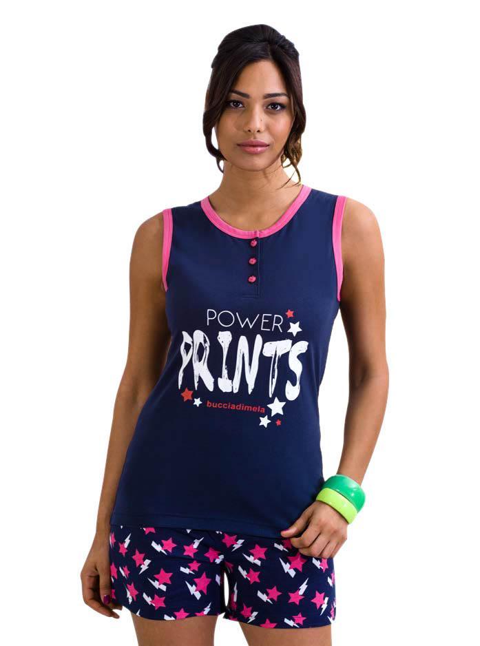 0432711903e Πιτζάμες: Πιτζάμα αμάνικη-σορτς STARS